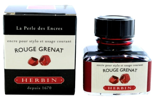 J. Herbin Rouge Grenat Fountain Pen Ink -30ml