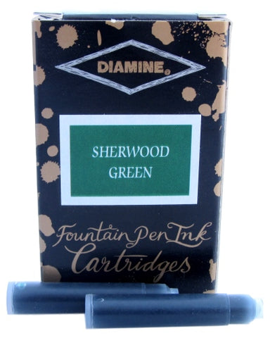 Diamine Sherwood Green Fountain Pen Ink Cartridges