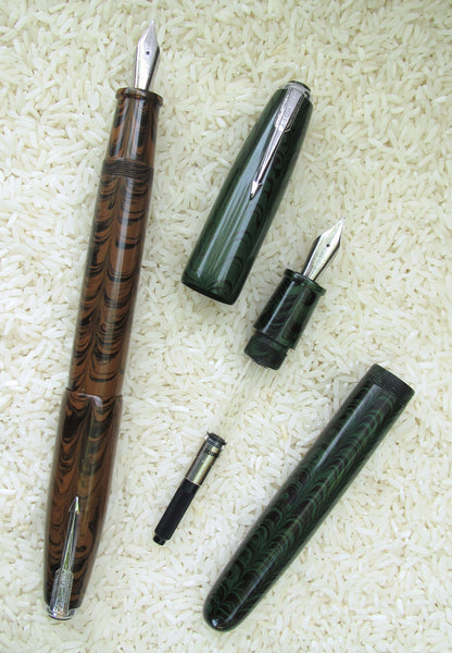 Guider Zimbo Ebonite Fountain Pen (Schmidt Upgrade)