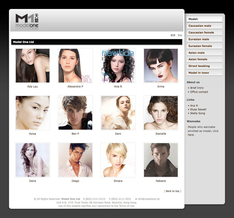Model One Website