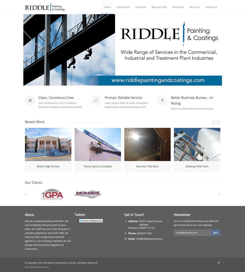 Riddle Painting & Coatings HTML Site