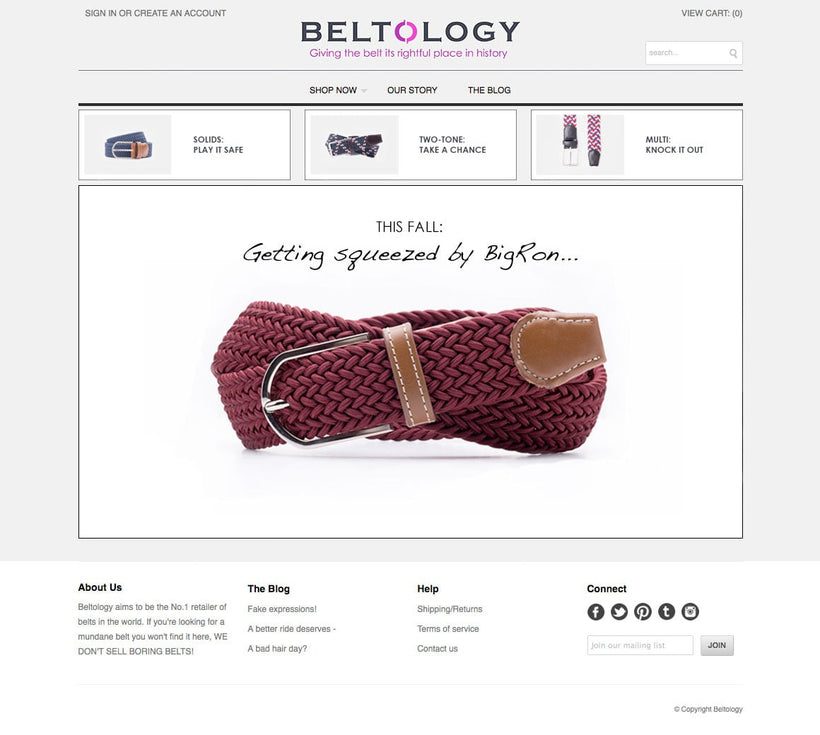 Beltology Shopify Store