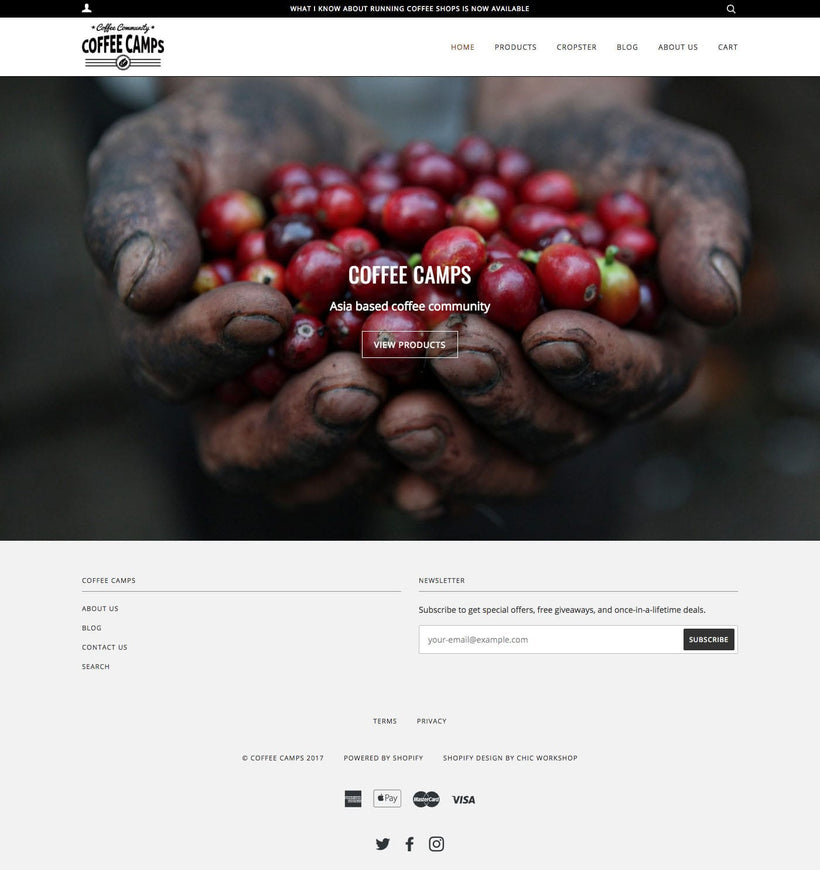 Coffee Camps Shopify Store