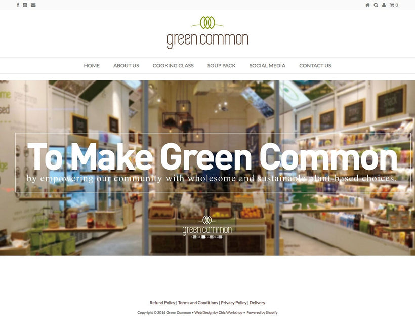Green Common Shopify Store