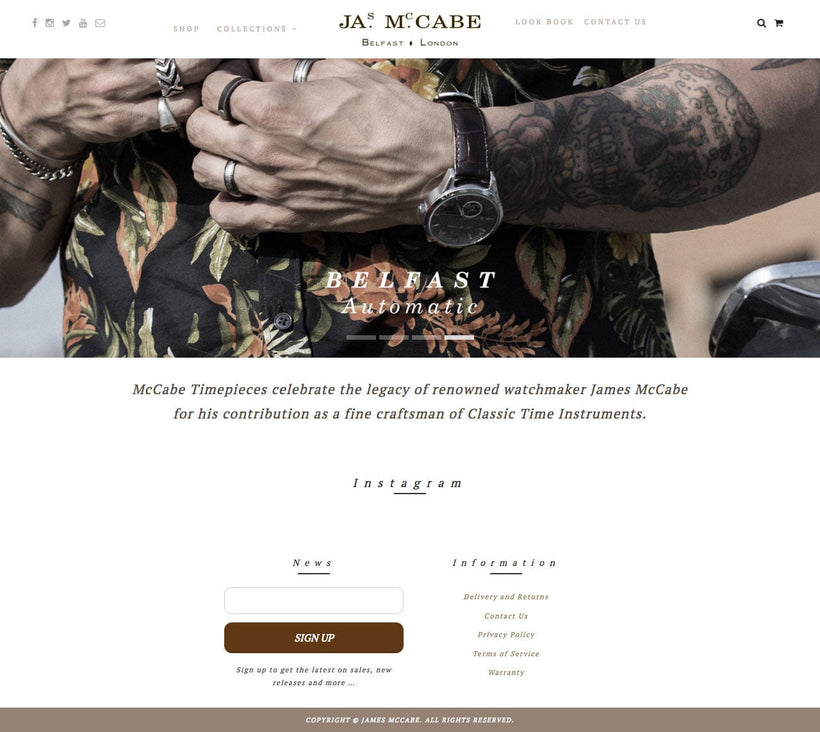 James McCabe Watches Shopify Store