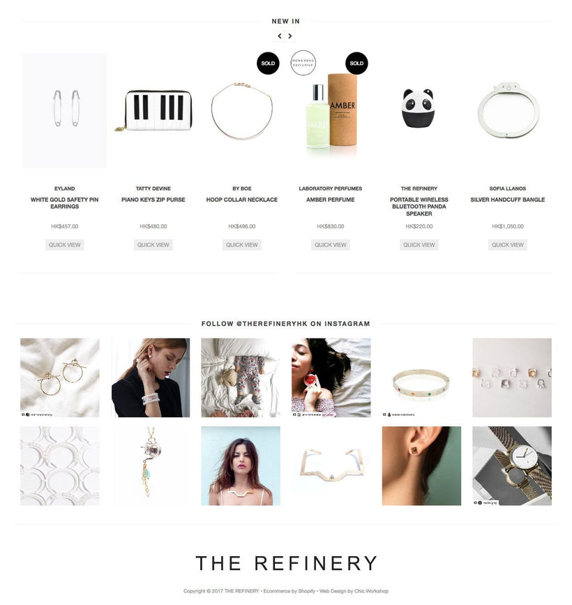 The Refinery Shopify Store