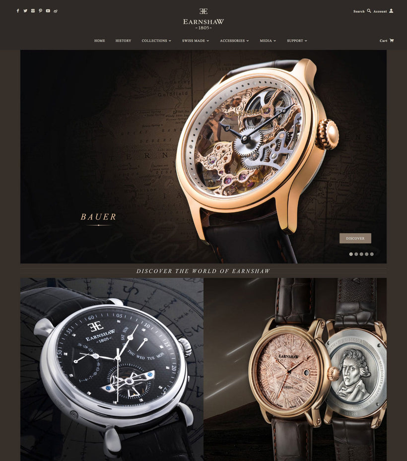 Thomas Earnshaw Shopify Store