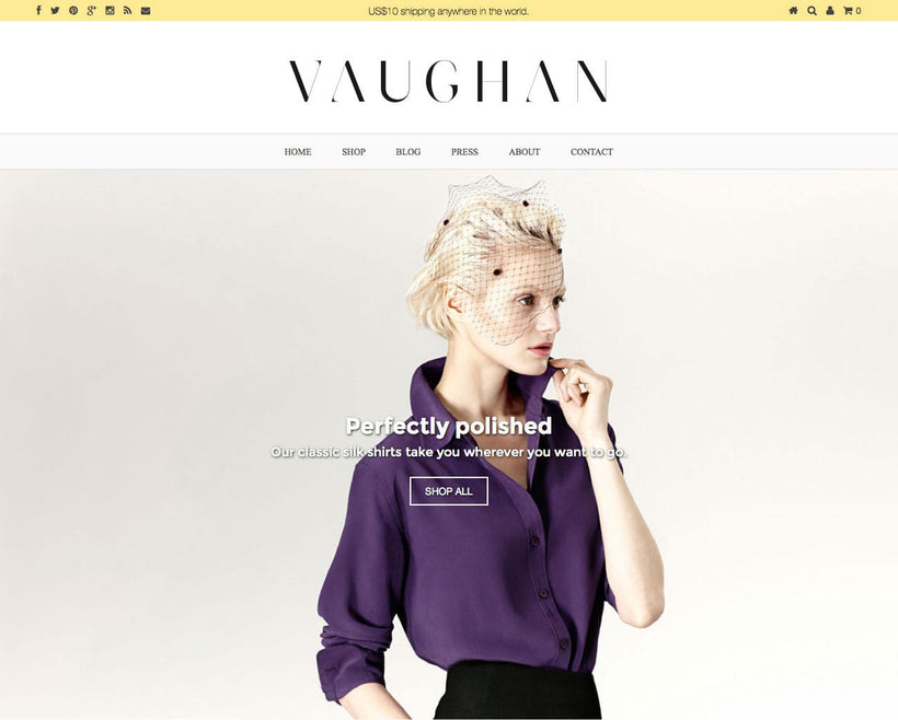 Vaughan Revamp 2014 Shopify Store