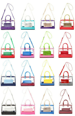 Moniqua Large Clear Satchel