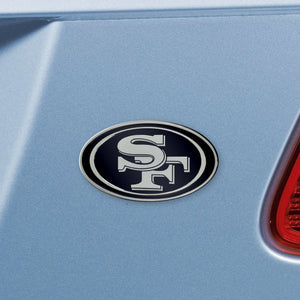 San Francisco 49ers NFL Chrome Auto Emblem ~ 3-D Metal