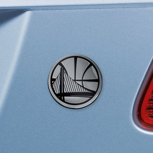 Golden State Warriors NBA Emblem - Auto Emblem ~ 3-D Metal