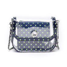 Chrissy Small Clear Crossbody Stadium Compliant Game Day Bag - Navy Blue and Lime Green - Seattle Seahawks