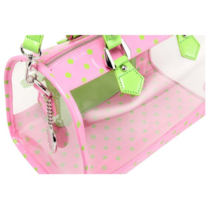 Moniqua Clear Satchel - Pink and Green AKA & DZ