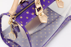 Moniqua Clear Satchel - Royal Purple and Metallic Gold
