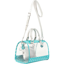 Moniqua Clear Satchel - Turquoise and Silver