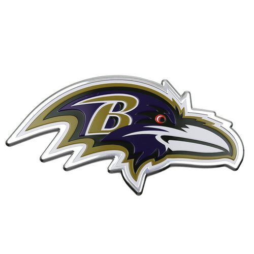 Baltimore Ravens Embossed Aluminum Color NFL Emblem