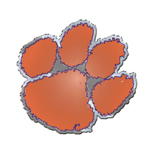 Clemson University Embossed Aluminum Color Emblem