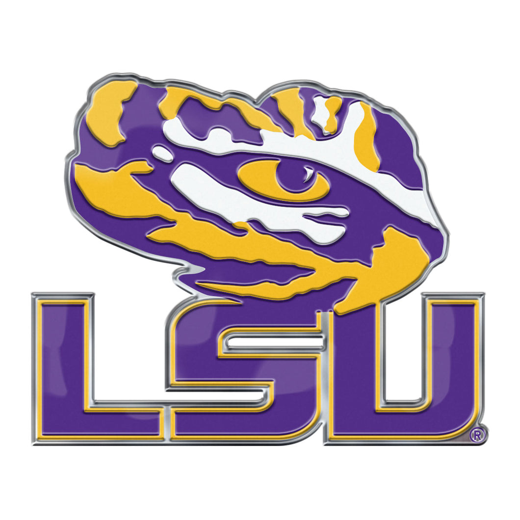 Louisiana State University LSU Embossed Color Emblem