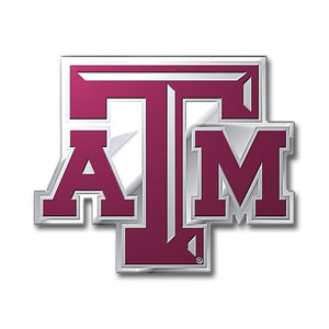 Texas A&M University Embossed Aluminum Color Emblem