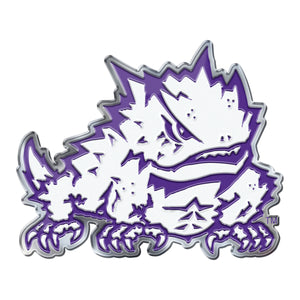 Texas Christian University TCU Horned Frogs Embossed Aluminum Color Emblem