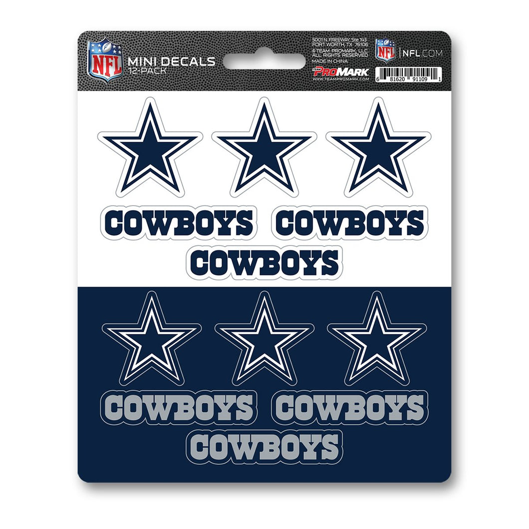 Dallas Cowboys Mini Decal 12-pk
