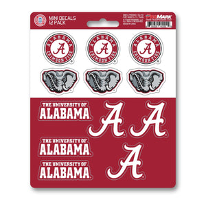 Alabama Roll Tide Mini Decal 12-pk