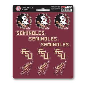 Florida State University Seminoles Mini Decal 12-pk