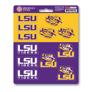 Louisiana State University Mini Decal 12-pk