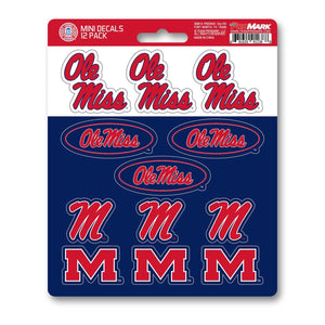 Mississippi Ole Miss Mini Decal 12-pk