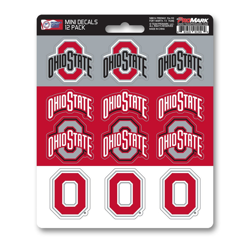 Ohio State University Mini Decal 12-pk