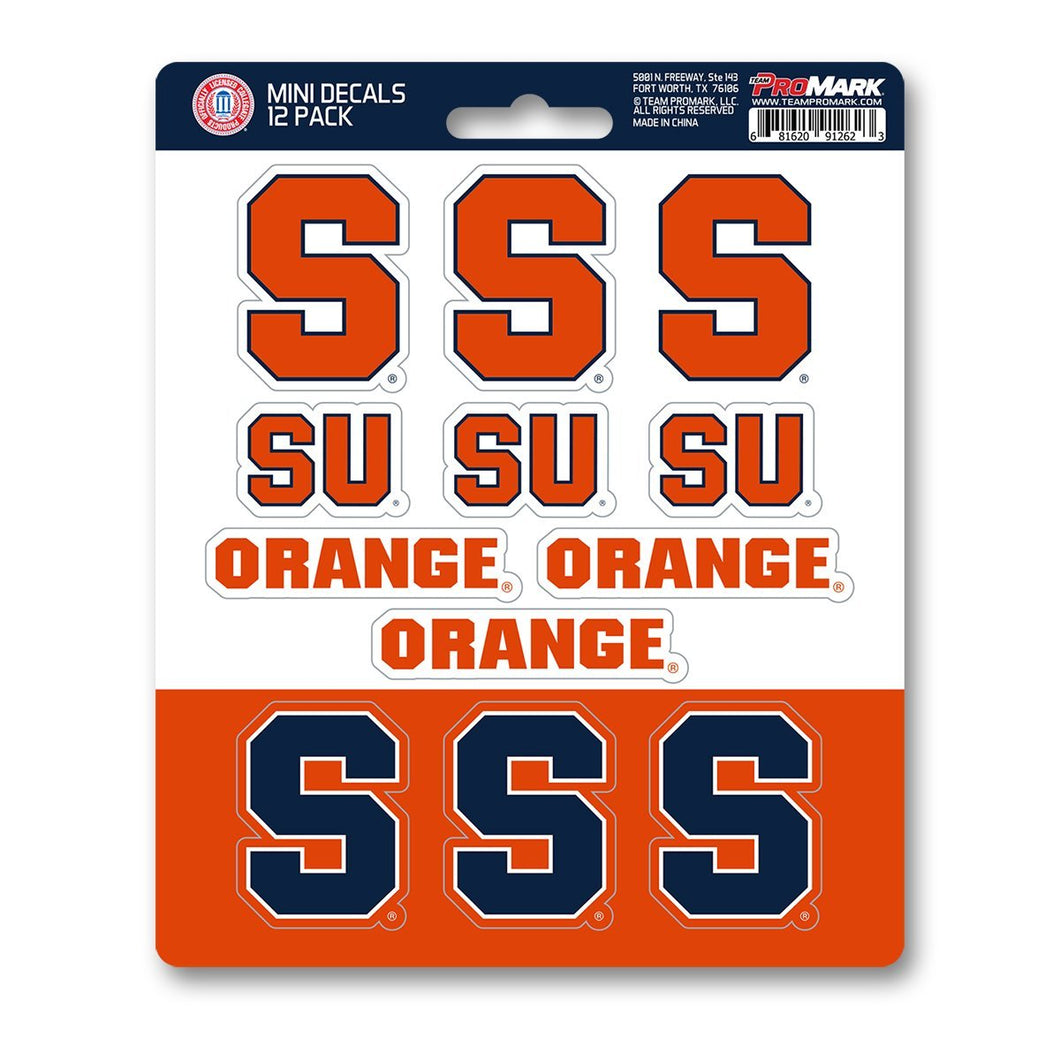 Syracuse University Mini Decal 12-pk