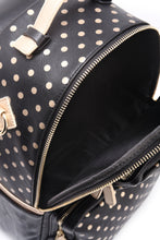 Natalie Michelle Backpack Large - Black and Metallic Gold