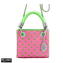 SCORE! Jacqui Classic Top Handle Crossbody Satchel -Pink and Green