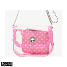 Chrissy Small Clear Crossbody Stadium Compliant Game Day Bag - Pink and White Phi Mu