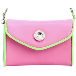 Eva Classic Clutch - Aurora Pink and Lime Green