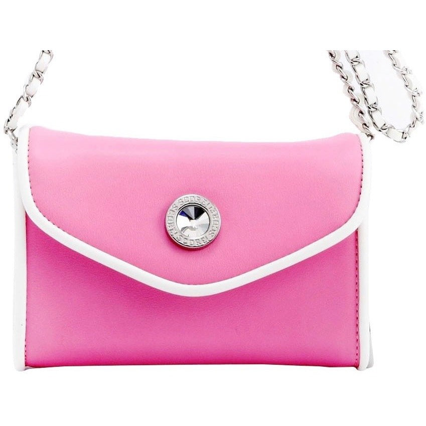 Eva Classic Clutch - Pink and White
