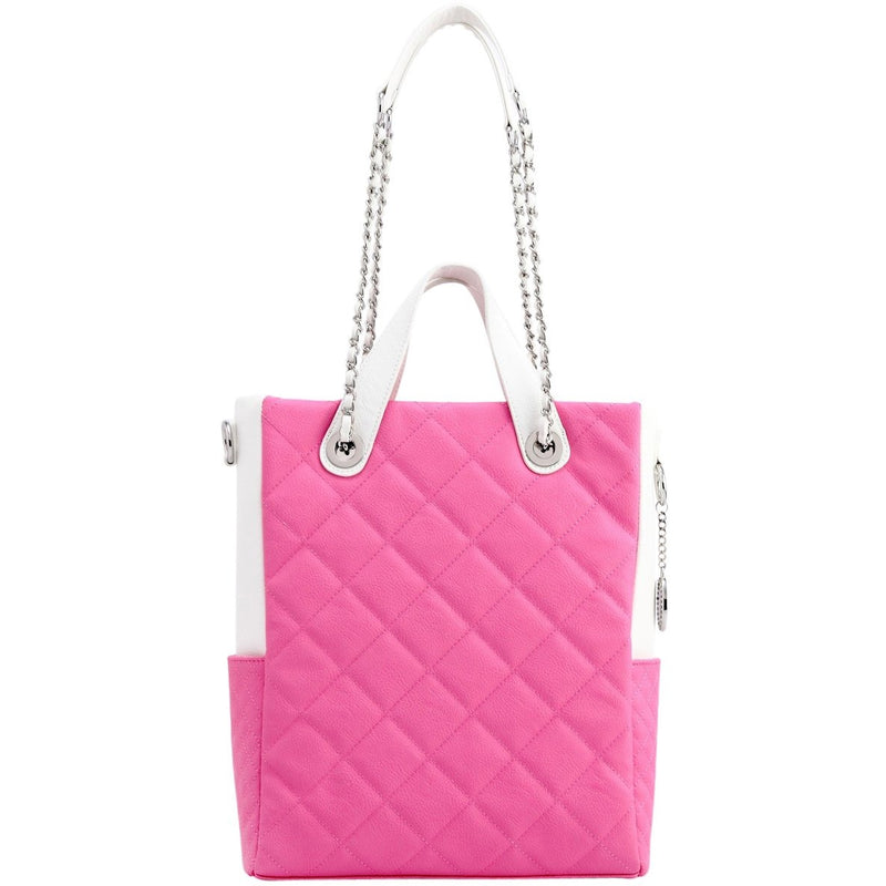 Kathi Travel Tote - Aurora Pink and White
