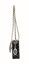 Chrissy Medium Clear Game Day Handbag - Black and Metallic Gold