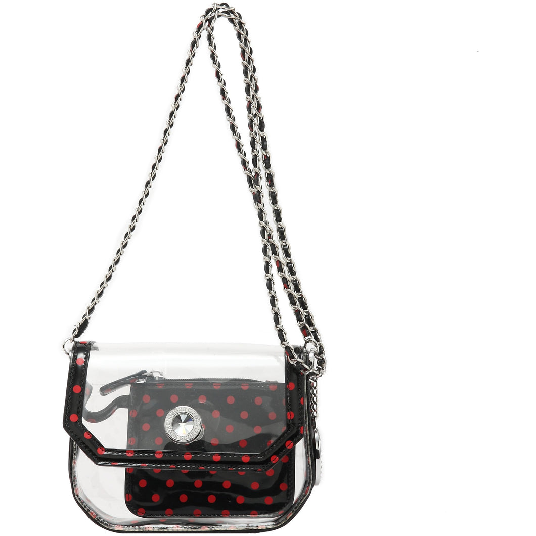 Chrissy Small Clear Game Day Handbag - Racing Red and Black