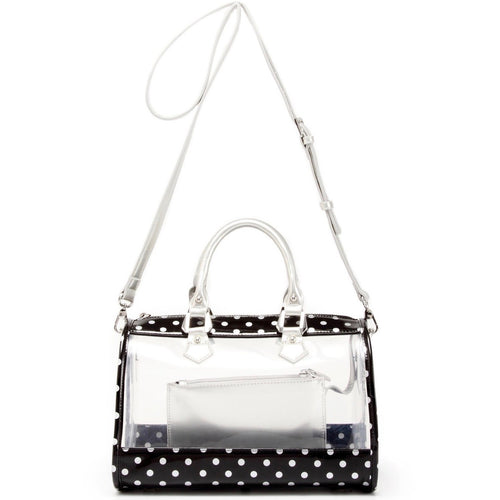 Moniqua Clear Satchel - Black and Silver