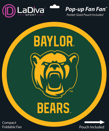 Pop-Up Fan Fan with Pouch-Baylor University- BU Bears