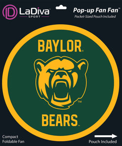 Baylor University- BU Bears~Pop-Up Fan Fan with Pouch
