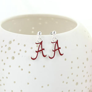 Alabama Enamel Logo Earrings
