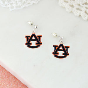Auburn Enamel Logo Earrings