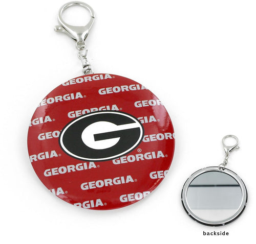 GEORGIA Bulldogs TEAM COLOR Logo MIRROR KEYCHAIN