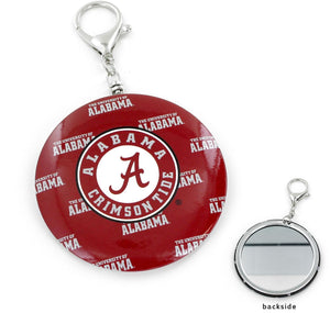 ALABAMA TEAM COLOR MIRROR KEYCHAIN NCAA