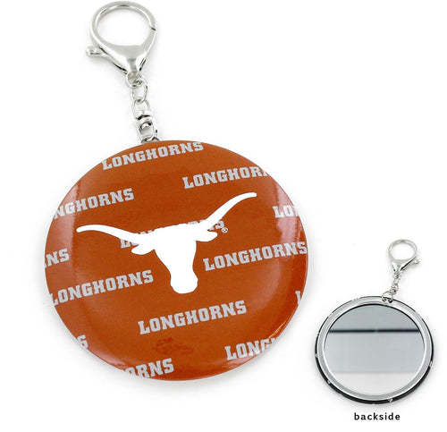TEXAS Longhorns TEAM COLOR Logo MIRROR KEYCHAIN
