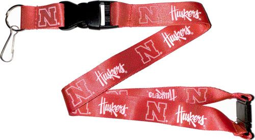 NEBRASKA Huskers Red and White Officially Licensed NCAA Logo Team Lanyard