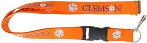 CLEMSON University Orange and Purple Paw Officially NCAA Licensed Logo Team Lanyard