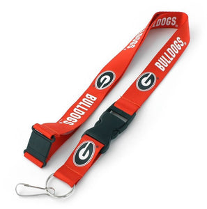 University of GEORGIA Red and Black Bulldogs Officially NCAA Licensed Logo Team Lanyard